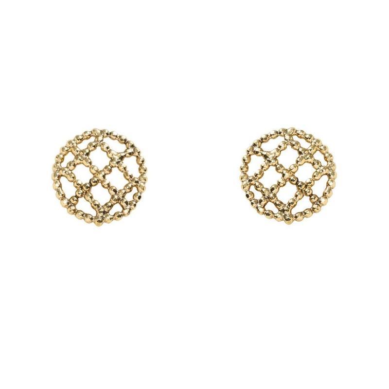CUTSTEEL quilt earring(gold)