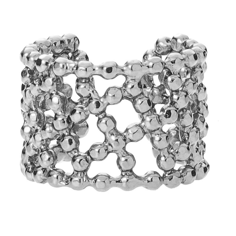 CUTSTEEL quilt band ring(silver)