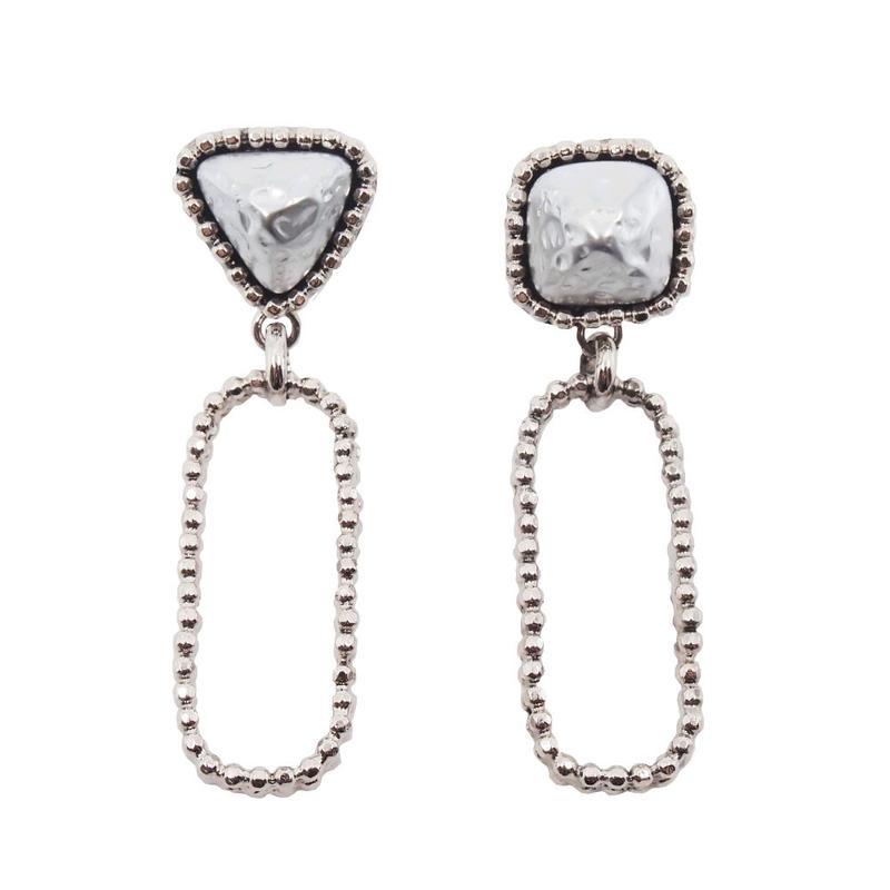 CUTSTEEL baroque pearl chain earring(gold/silver)