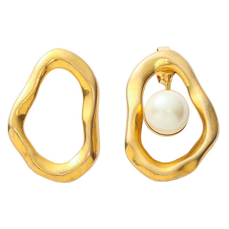 COSMO 2way pearl pierce (gold)