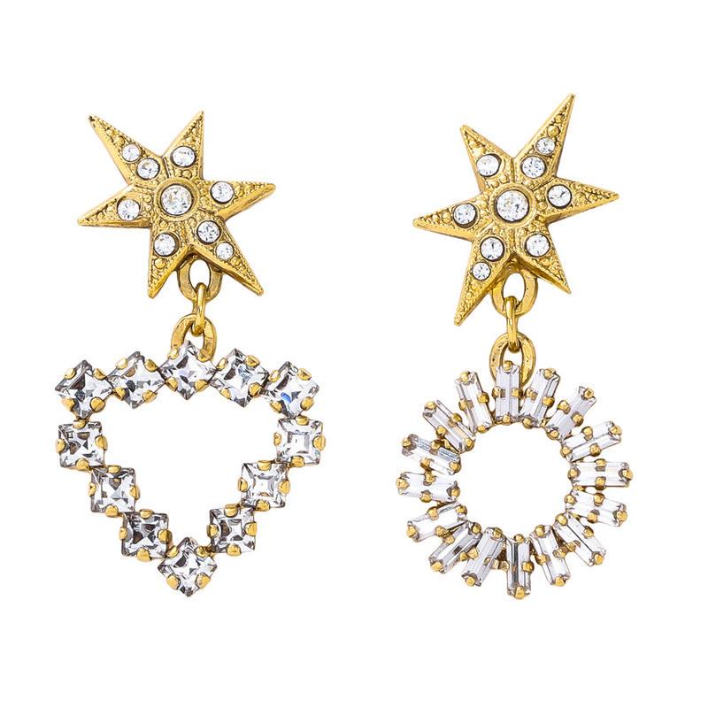 SPARKLE star pierece/earring (gold)