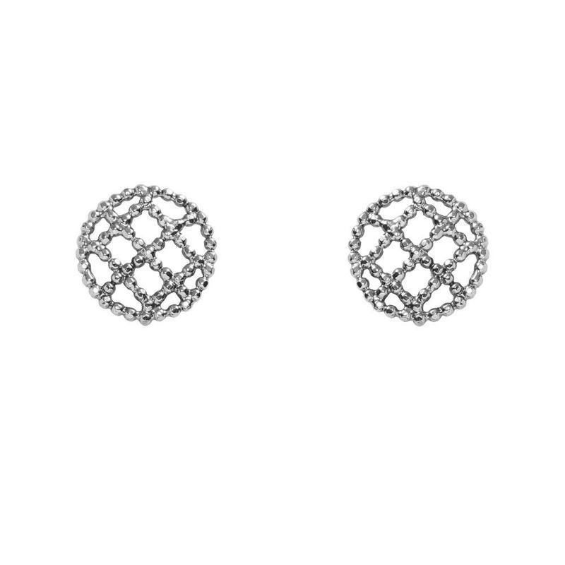 CUTSTEEL quilt earring(silver)