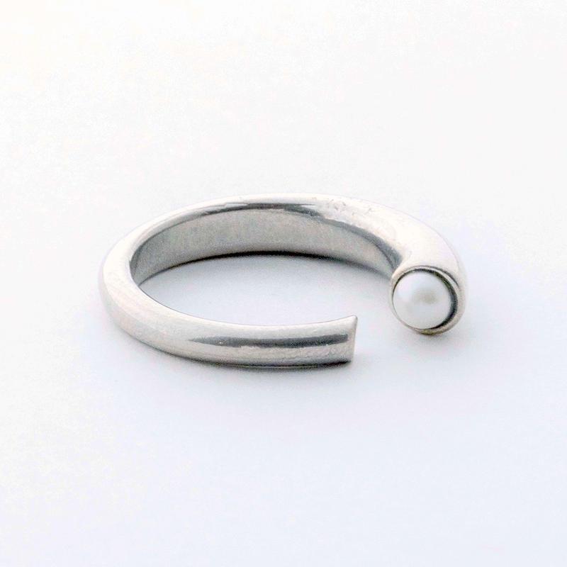 KUMIKO OBINATAコラボレーション Open Pearl Ring(silver)
