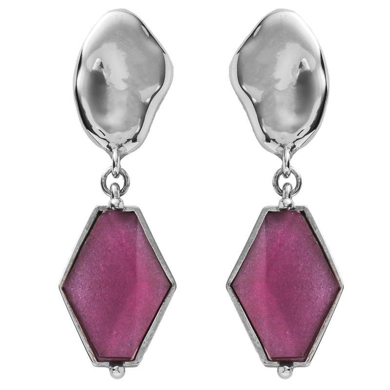 VITRAIL diamond pierce/earring(silver)