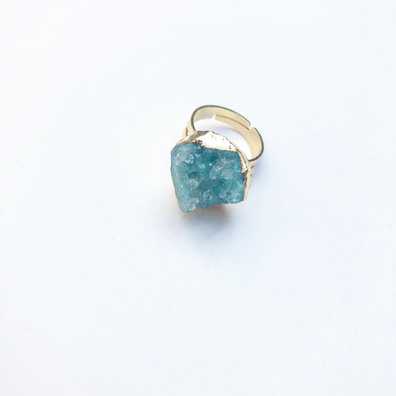 Greek Druzy  Ring