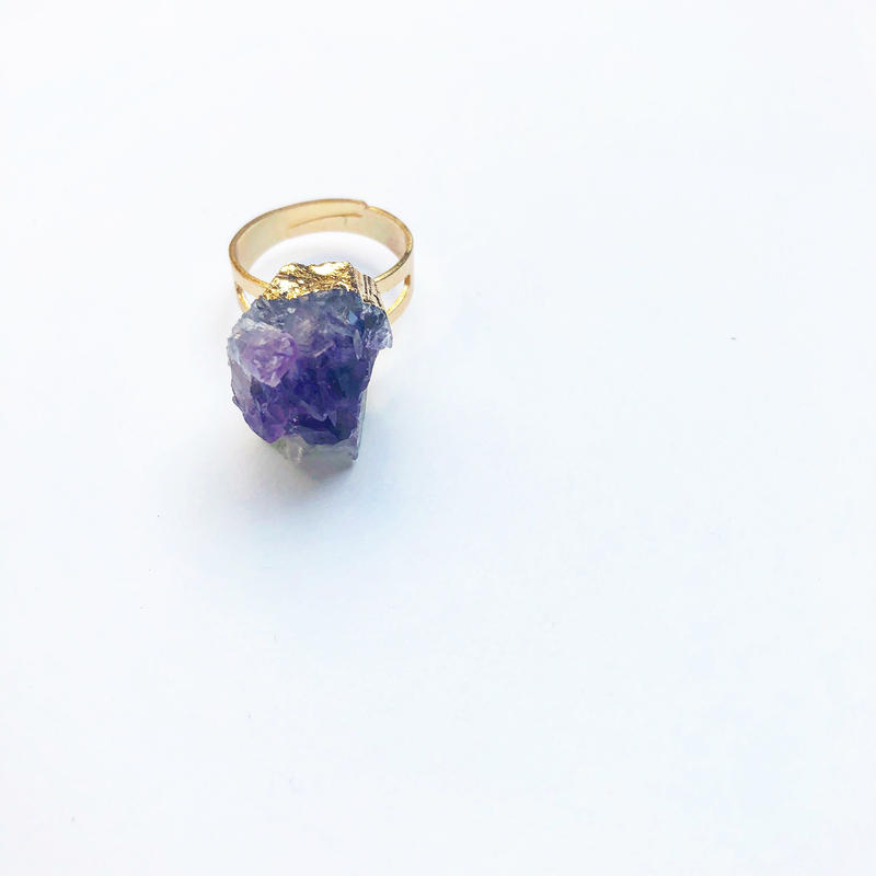 Greek Amethyst Ring