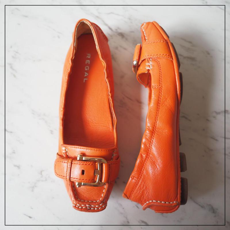 リーガル REGAL レザー パンプス フラット シューズ バックル 23.5cm 靴