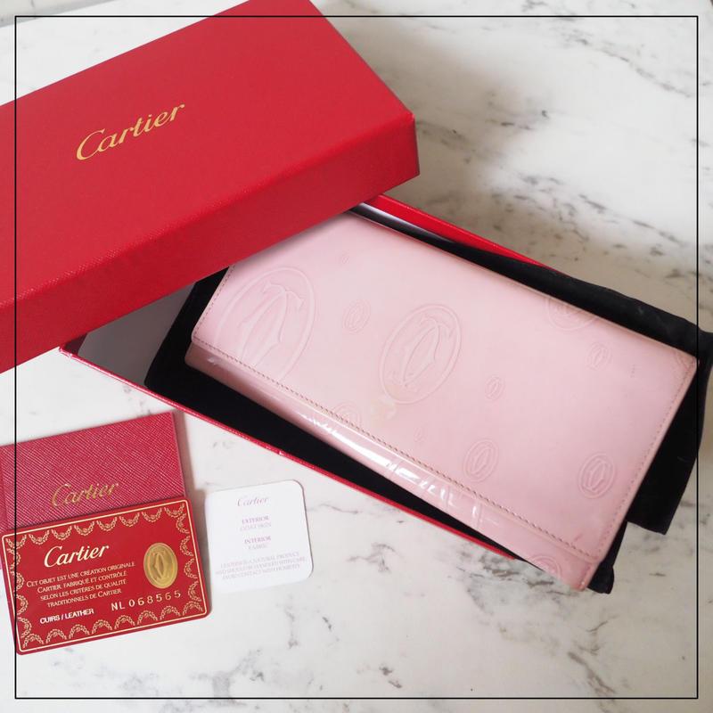 Cartier カルティエ バースデー 小銭入れ付 長財布 ピンク