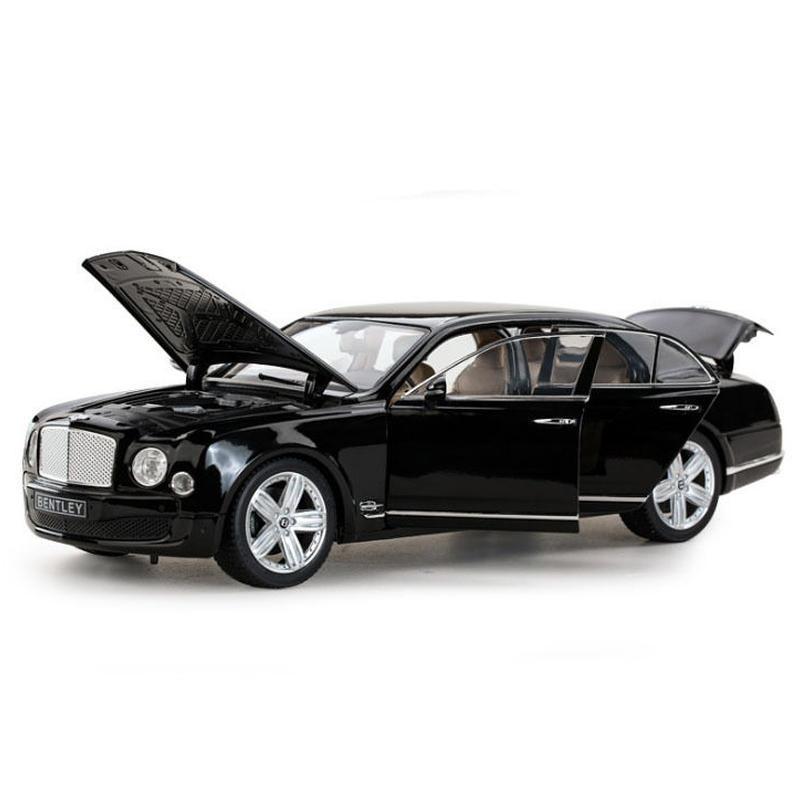 【新品】1/18 ベントレー ミュルザンヌ Bentley Mulsanne モデルカー 乗用車 ブラック ゴールド