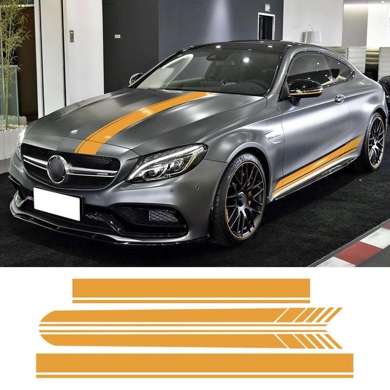 メルセデスベンツ用 Mercedes Benz ステッカー サイド ボンネット ルーフ W205 クーペモデル C200 C250 C300 C63 AMG