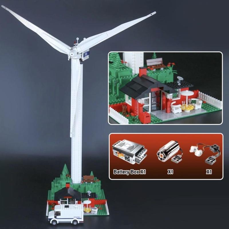 レゴ互換品 ヴェスタスウィンドタービン ジェニュインストリートシリーズ LEGO互換 873ピース