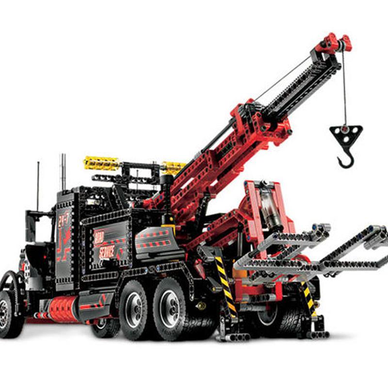 レゴ互換品 ヘビーコンテナトラック アメリカンスタイル アルティメットテクニックシリーズ LEGO互換 1877ピース