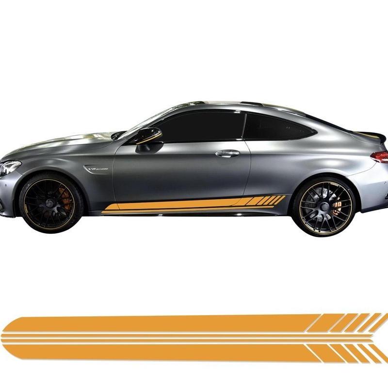メルセデスベンツ用 Mercedes Benz ステッカー スタイリング ドアサイド 6カラー C200 C250 C300 C63 AMG