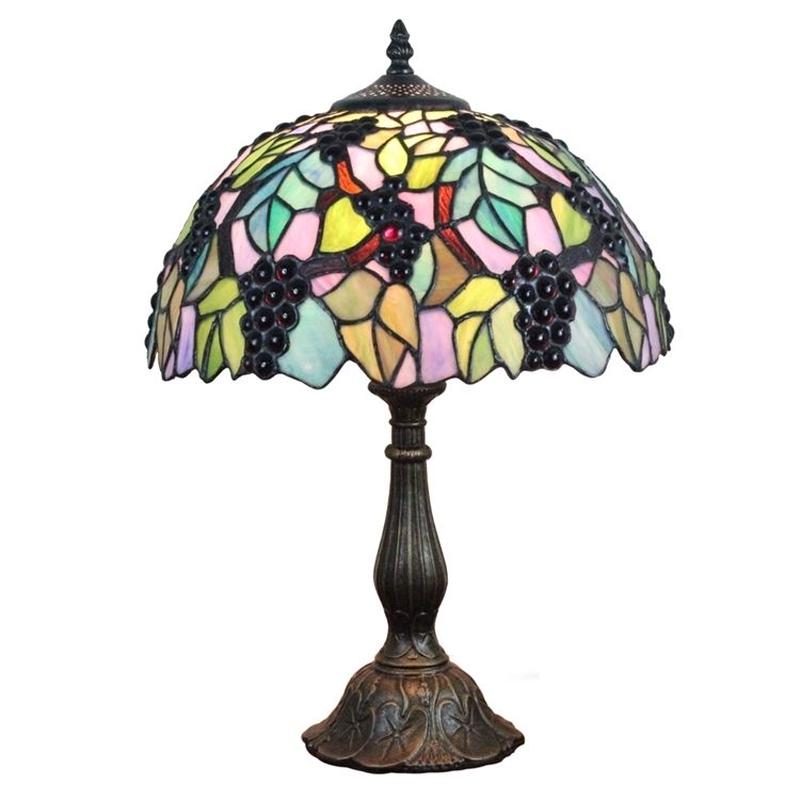 テーブルランプ ティファニーライト ステンドグラスランプ 卓上照明 ブドウ D30cm StyleChi
