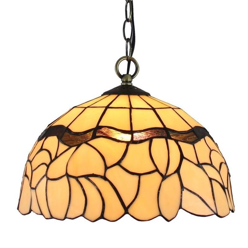 ティファニーライト ペンダントライト ステンドグラスランプ レトロ 田舎風 芸術的 照明器具 玄関照明 D30cm StyleChic