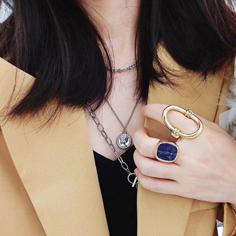 gold×blue ring set