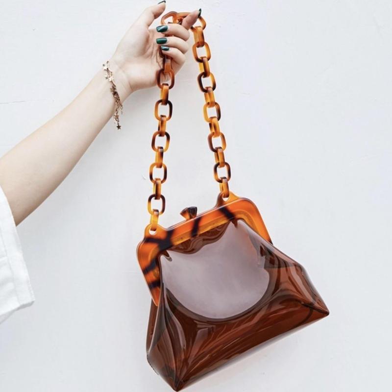 clear tortoise shell bag