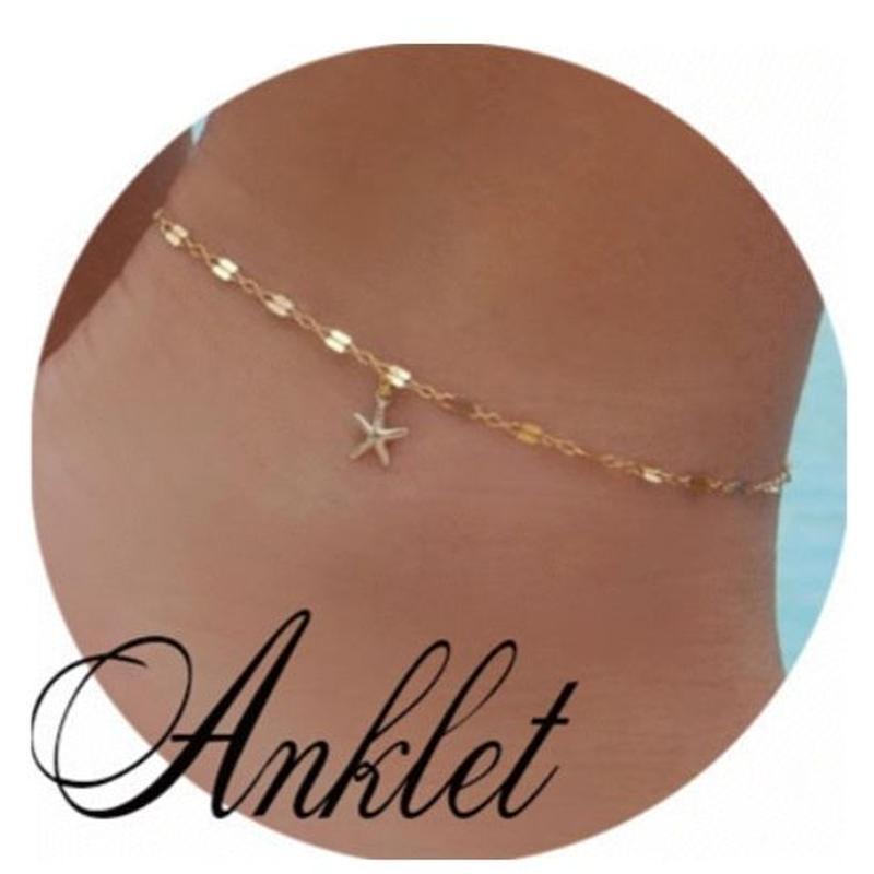 gold star anklet