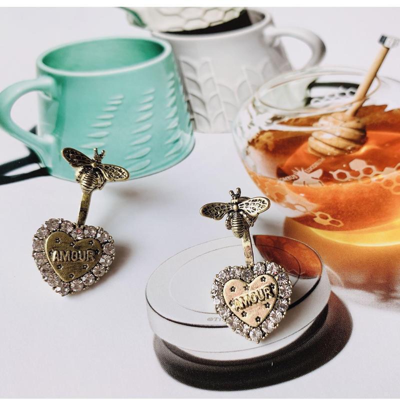 bee × heart 2way pierce