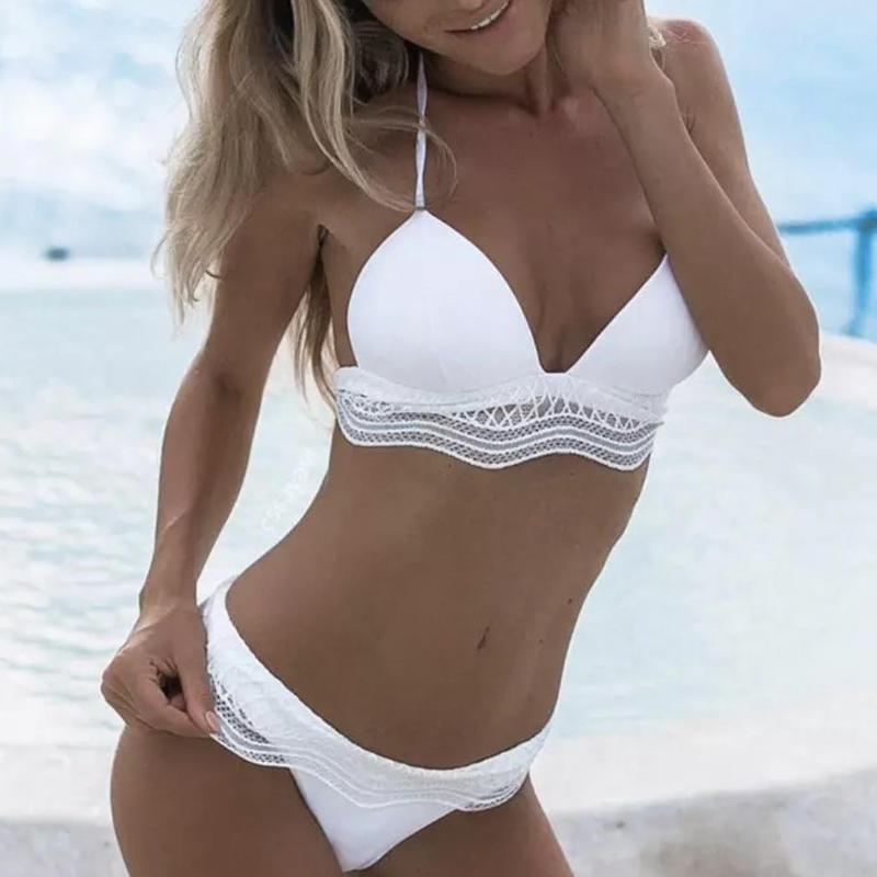 white race swimwear