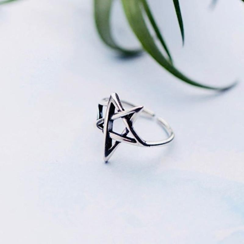 silver925 star ring