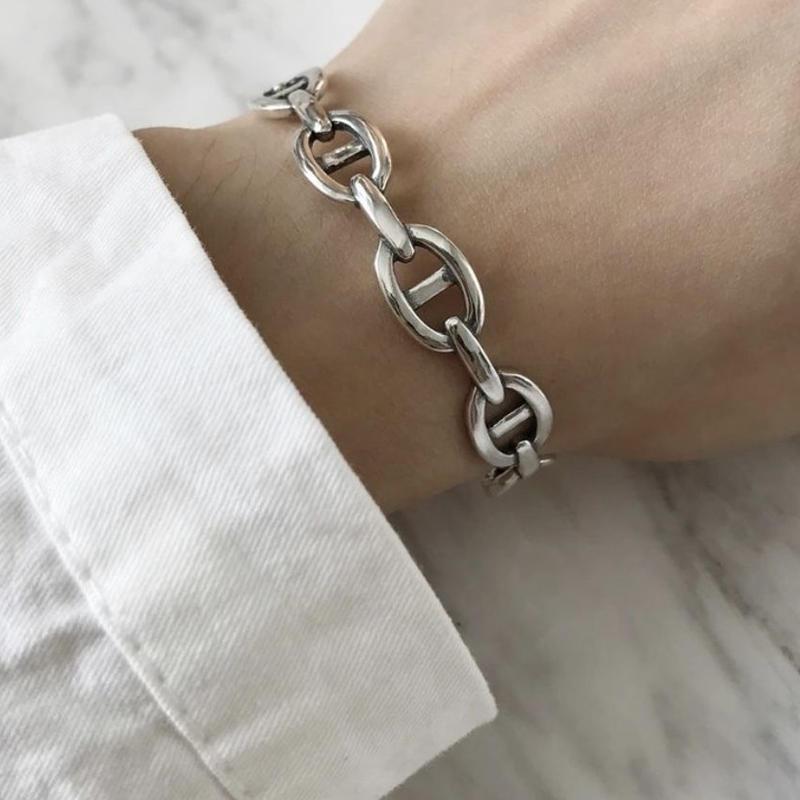 silver925 chain bangle
