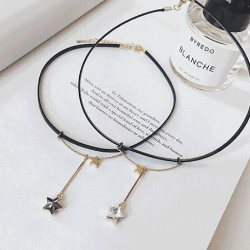 star leather necklace