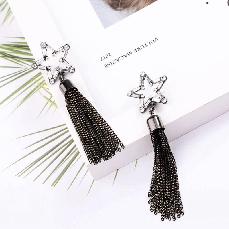 star chain tassel pierce