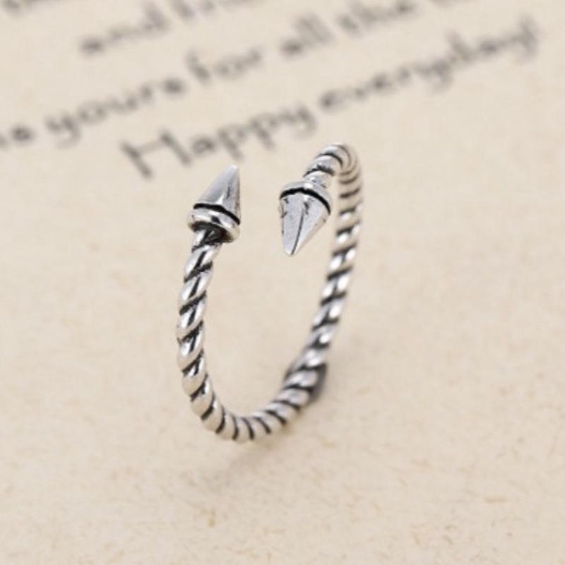 silver925  horn  ring