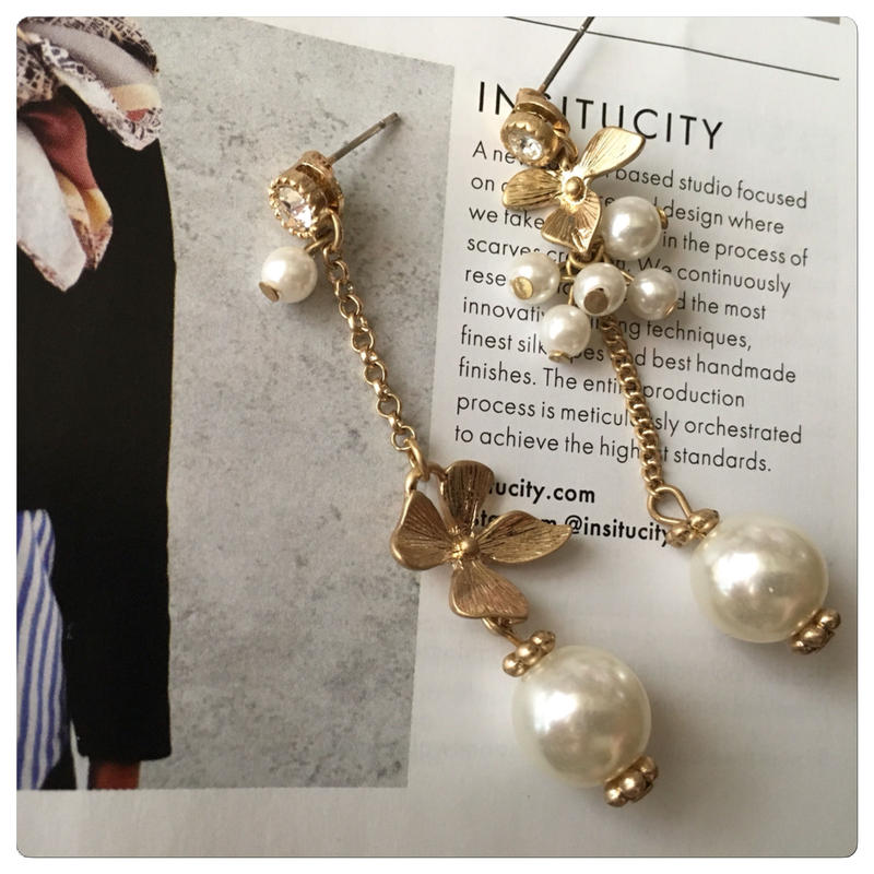 antique flower pearl pearl