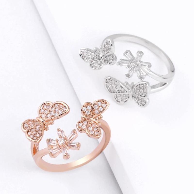 butterfly × flower ring