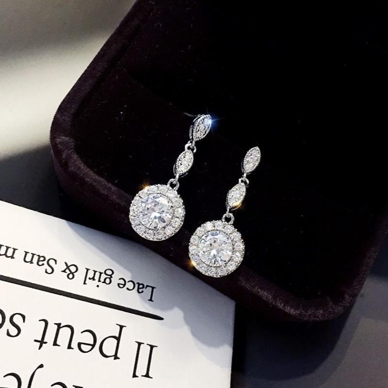 leaf  diamond  pierce/earring