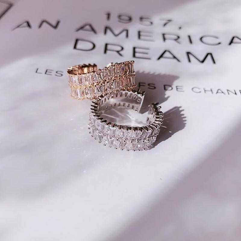 square stone diamond ring