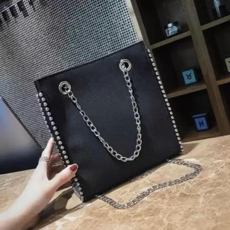 leather studs 2way bag