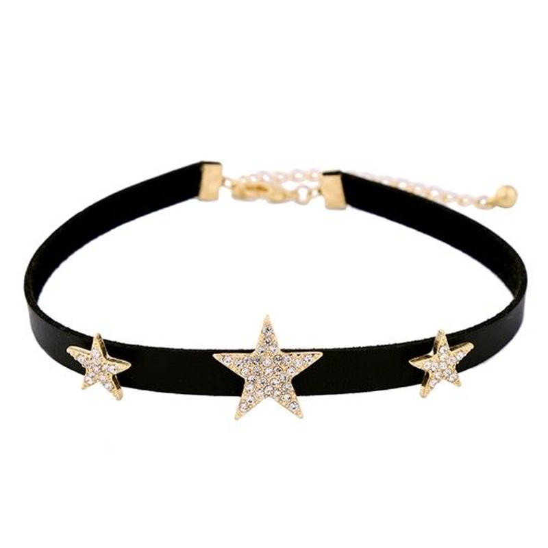 star leather choker