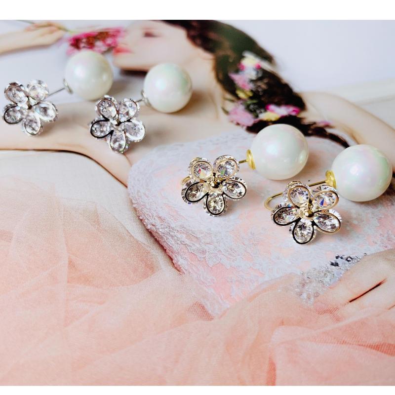 flower × Pearl  bent pierce
