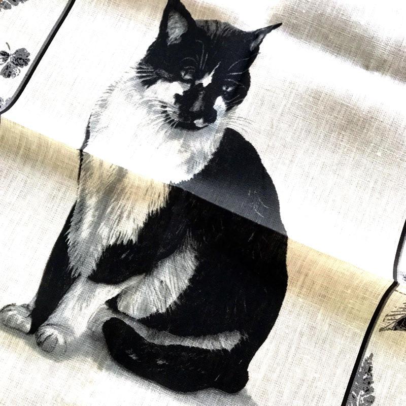 キッチンクロス 白黒猫