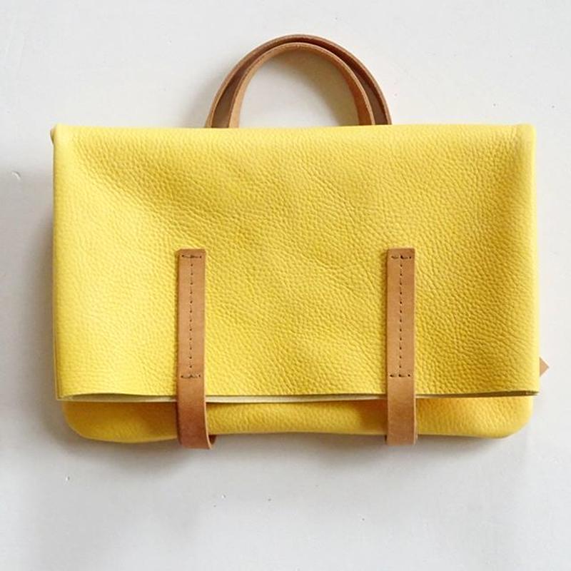 ぺたんこトート・T(A4)  yellow
