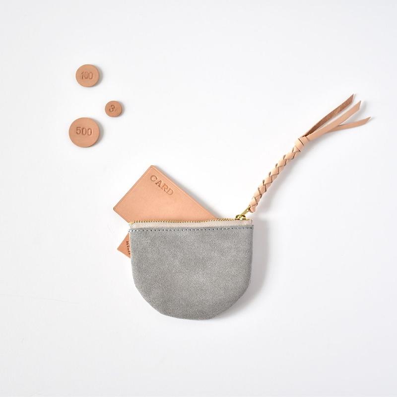 suzumeno pouch (スエード・gray)
