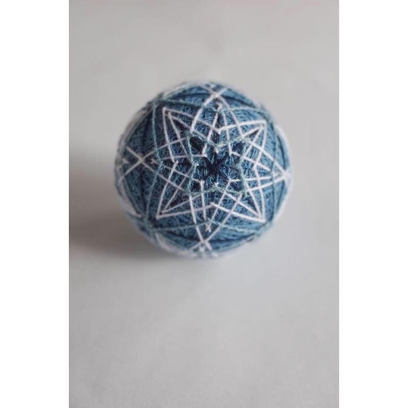正藍染の手毬*星