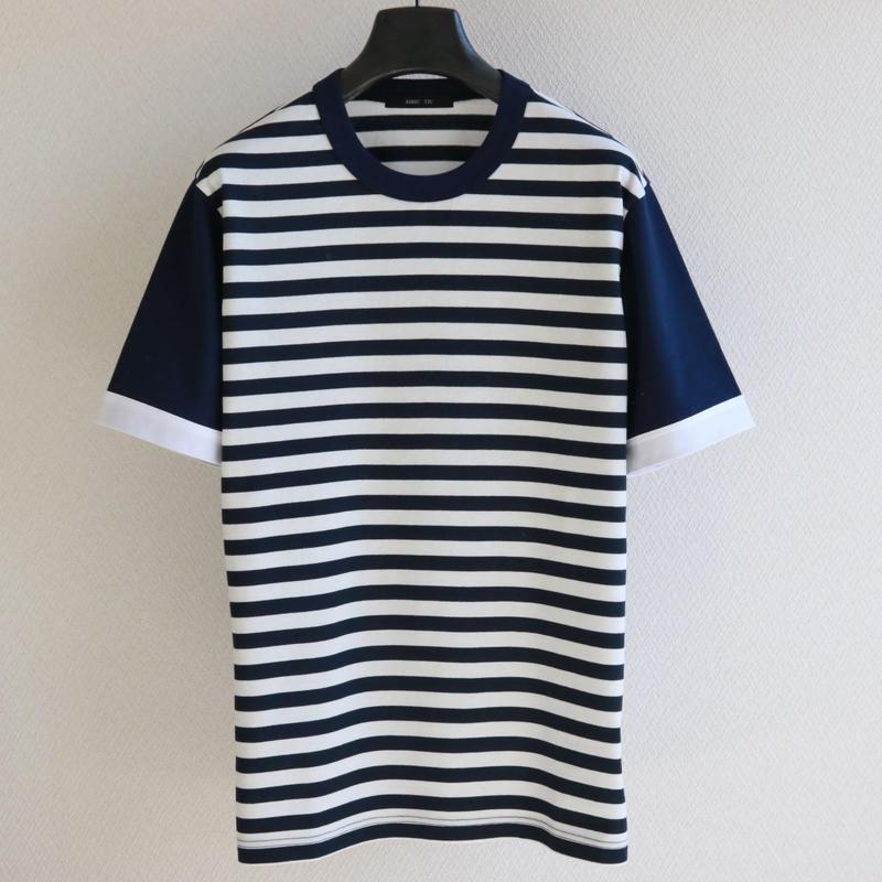 バイカラースリーブ ボーダー T-shirt  NW