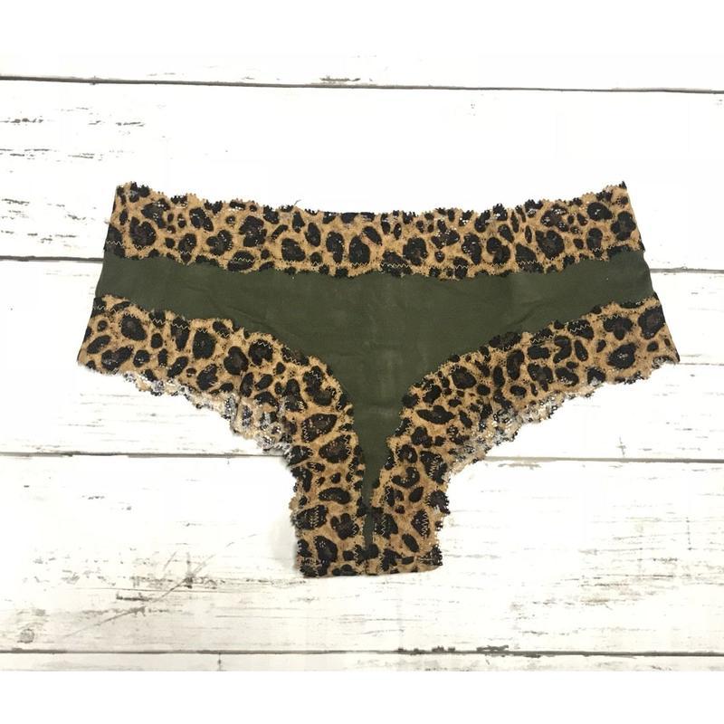 Leopard×Khaki  short