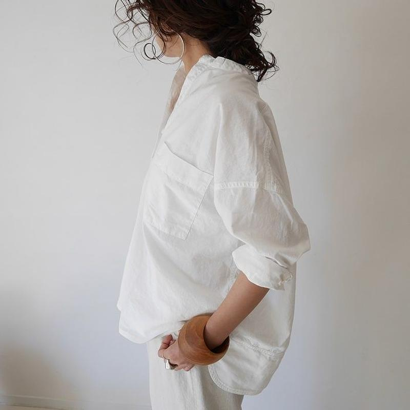 WHITE VINTAGE DUNGAREE PULLOVER SHIRT