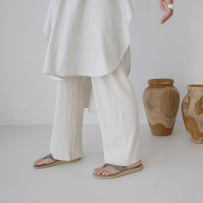 SIESTA SUNNY COTTON RIB PANTS