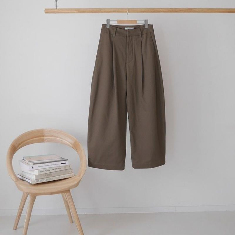 ■RESTOCK■PEACH BRUSHED COTTON TWILL BalloonSilhouettePants/TABACO