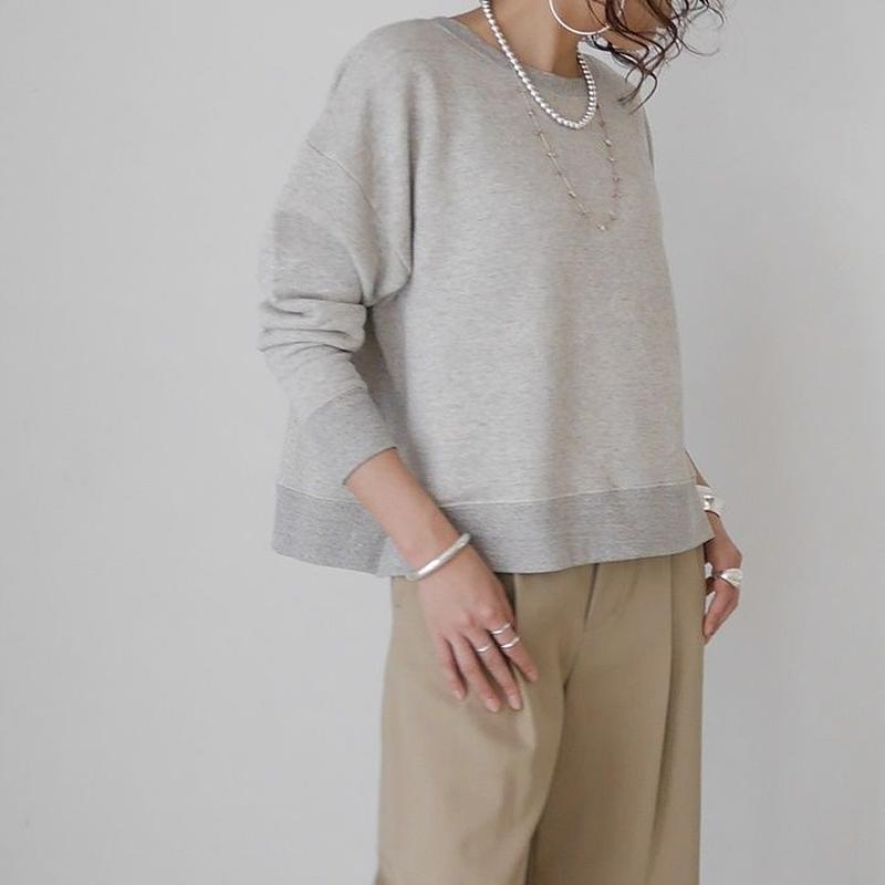 ■再販■LYOCELL-COTTON SOFT COASE-GRAINED PULLOVER(BAKE)