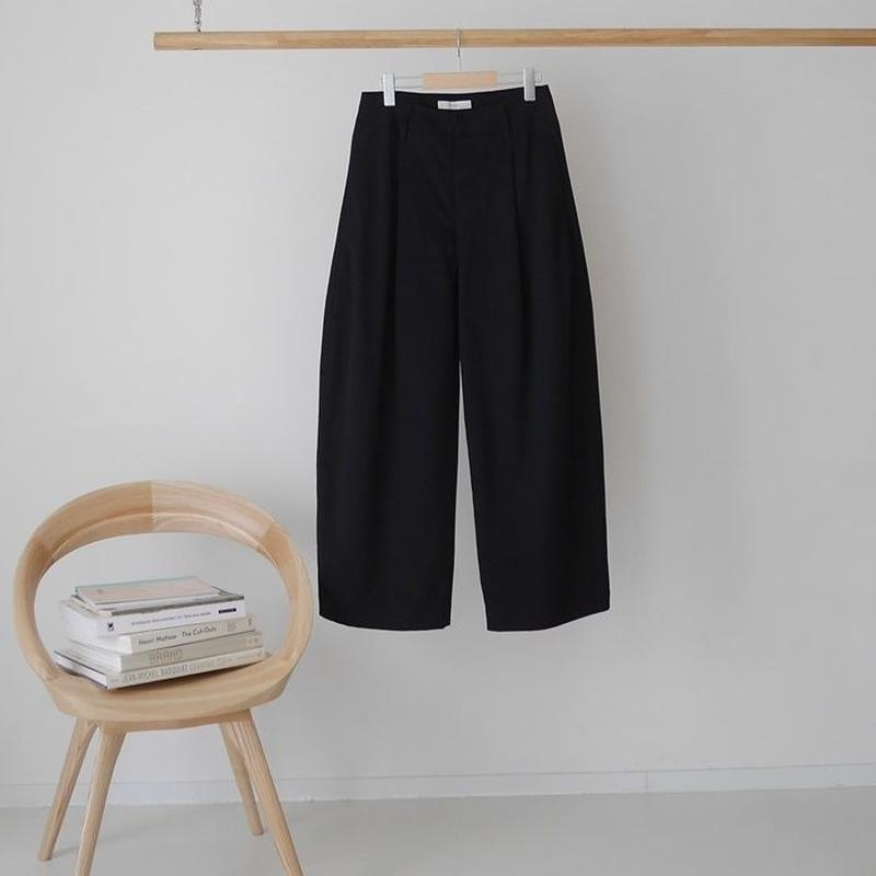 ■RESTOCK■PEACH BRUSHED COTTON TWILL BalloonSilhouettePants/BLACK
