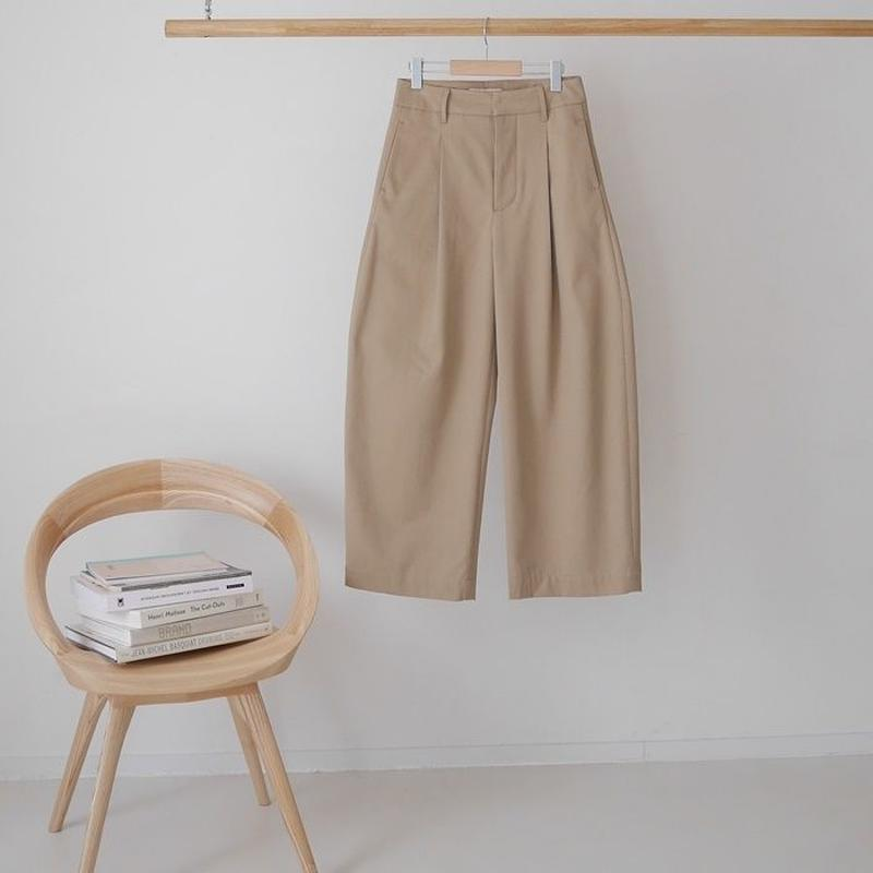■RESTOCK■PEACH BRUSHED COTTON TWILL BalloonSilhouettePants/CINNAMON