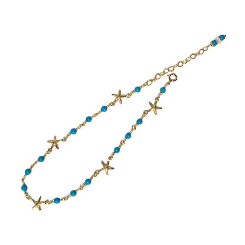 Turquoise × Starfish Anklet