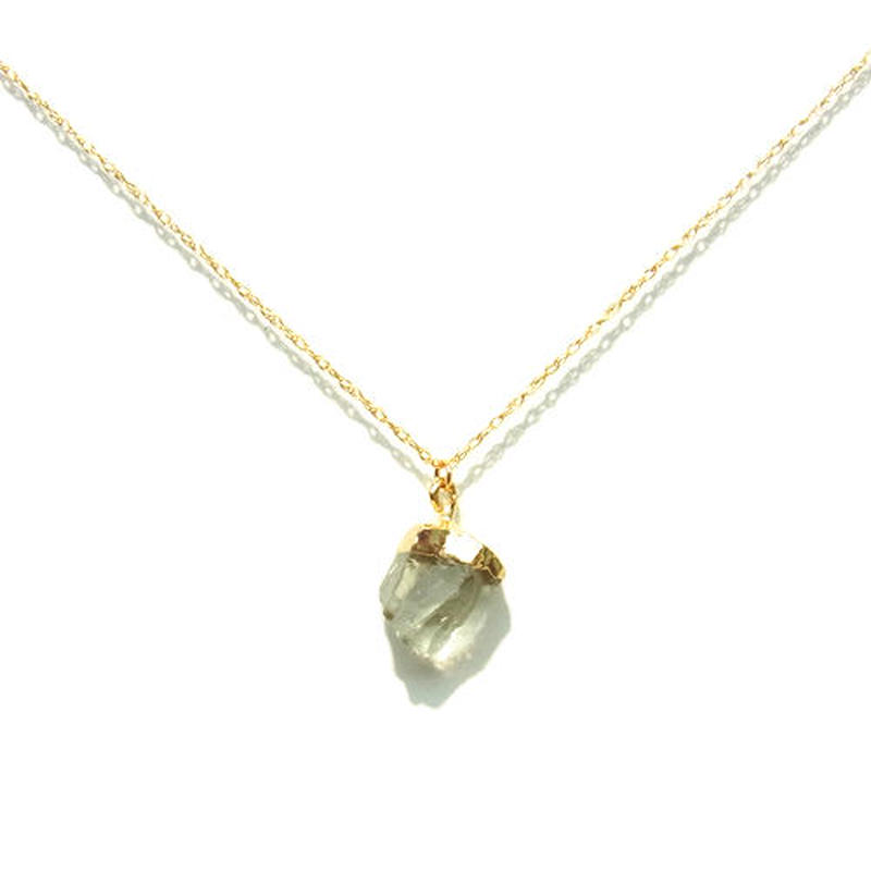 Green Amethyst Necklace -B-